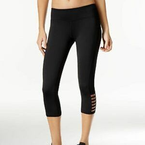 Ideology Womens Mid Rise Cut Out Cropped Leggings